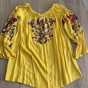 Floral boho mini dress
